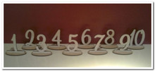 16cm tall wooden freestanding table numbers with detachable stands