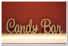 10cm tall Freestanding wooden word phrase Candy Bar