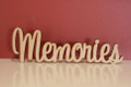 7cm tall Freestanding wooden word sign Memories