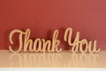 10cm tall Freestanding wooden word phrase sign Thank You