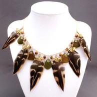 Golden Feathers & Honey Sea Glass