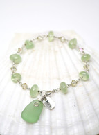"Simple Inspirations Bracelet- Mint Sea Glass ""HOPE"""