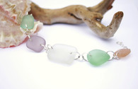 Pastel Sea Glass Chunk Bracelet
