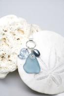 Swarovski Sea Snail & Cadet Blue Sea Glass