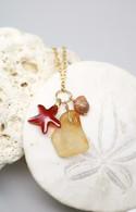 Swarovski Starfish & Lava Sea Glass