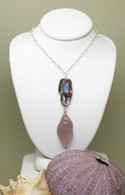 Abalone & Lavender Sea Glass Necklace