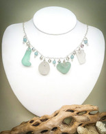 "Sea Glass ""LOVE"" necklace"
