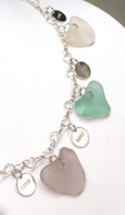Sea Glass Hearts & Love Necklace