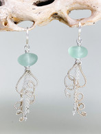 Sea Glass Jellyfish Dangle Earrings