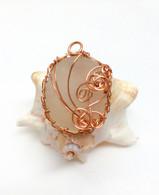 Copper Net Weave Pendant