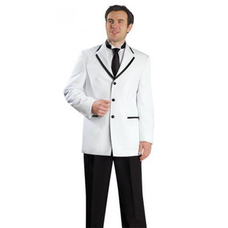 Mens White Tuxedo with Black Frame