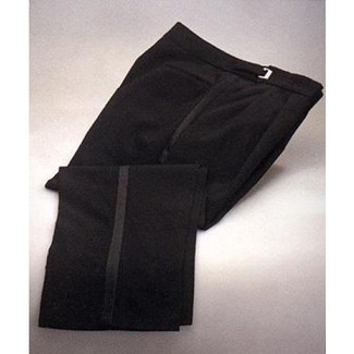100% Worsted Wool Tuxedo Trousers