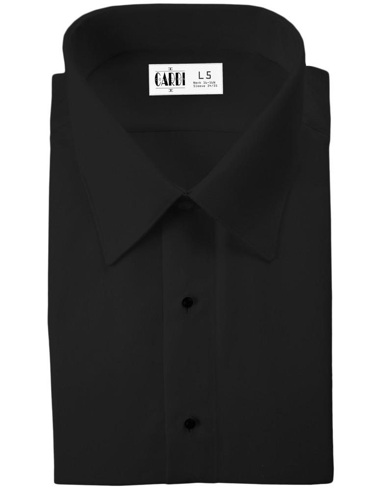 df25bdff3d1c11 Black Como Laydown Tuxedo Shirt by Cardi. Loading zoom