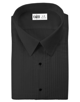 Black Enzo Laydown Tuxedo Shirt by Cardi