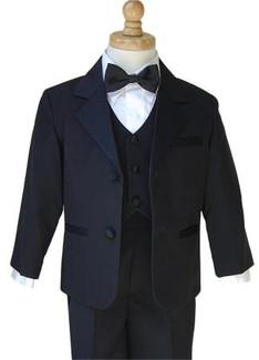 Boys Black Tuxedo Package