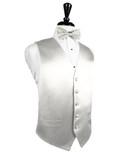 Ivory Silk Tuxedo Vest