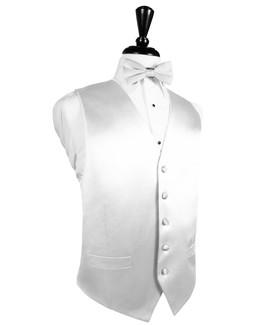 White Silk Tuxedo Vest