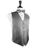 Silver Herringbone Tuxedo Vest