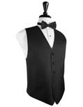 Black Herringbone Tuxedo Vest