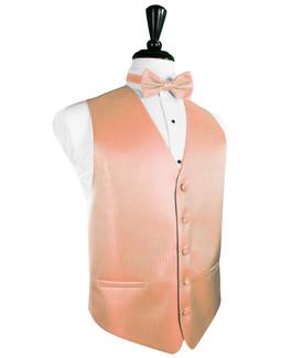 Coral Herringbone Tuxedo Vest