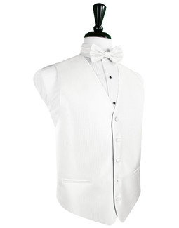 Diamond White Herringbone Tuxedo Vest