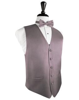 Frosty Pink Herringbone Tuxedo Vest