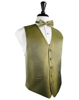 Gold Herringbone Tuxedo Vest
