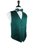 Jade Herringbone Tuxedo Vest