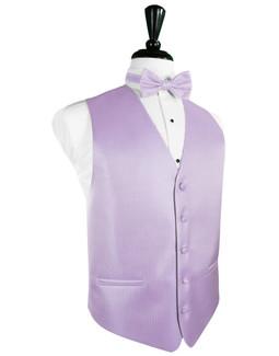 Pastel Lavender  Herringbone Tuxedo Vest