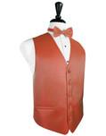 Persimmon Herringbone Tuxedo Vest