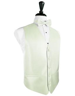 Pistachio Herringbone Tuxedo Vest