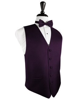 Raisin Herringbone Tuxedo Vest