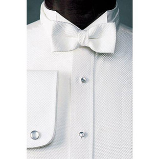 Pique Wing Collar Formal Shirt for Tuxedo Tails
