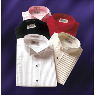 Wing Collar Colored Tuxedo Shirts