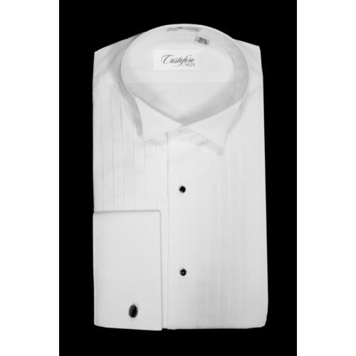 0cd0221a8b459e Cristoforo Cardi Wing Collar Tuxedo Shirt. Loading zoom