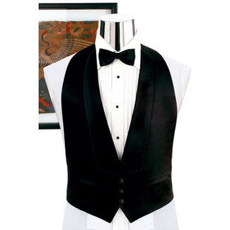 Backless Tuxedo Vest select