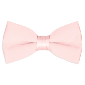 Satin Light Pink Bowtie
