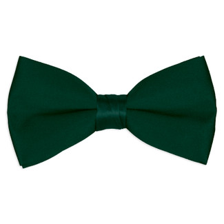 Satin Hunter Green Bowtie