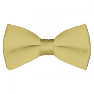 Satin Tuxedo Bow Tie in Antique Gold