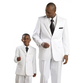 Mens White 1 Button Tuxedo