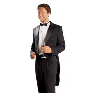 Mens Black Tailcoat