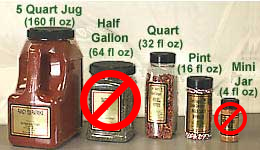 Our Plastic Sizes