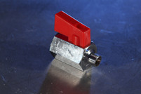 "Mini Ball Valve 1/8"" Red Handle"