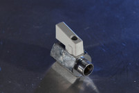 "Mini Ball Valve 1/4"" White Handle"