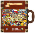 Texas Collectible SuitCase Luggage Box 1000 piece Jigsaw Puzzle