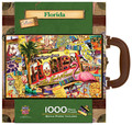 Florida Collectible SuitCase Luggage Box 1000 Piece Jigsaw Puzzle