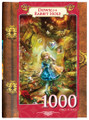 Fairytales Down The Rabbit Hole 1000 Piece Puzzle in Collectible Display Book Box