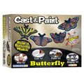 4 Buttlerfly Cast & Paint Craft Kit with 2 BLO Pens