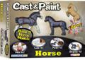 3 Horse Cast & Paint Craft Kit with 2 BLO Pens