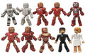 Iron Man 3 Marvel Mini Mates Hall Of Armor 10 pack Box Set San Diego Comic Con Exclusive
